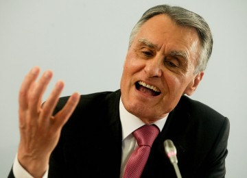 The portuguese President, Cavaco Silva, during the press conference after today´s Cotec Council for Globalization 2012 meeting at Cidadela Palace in Cascais, 4 of May 2012. MIGUEL A. LOPES/LUSA